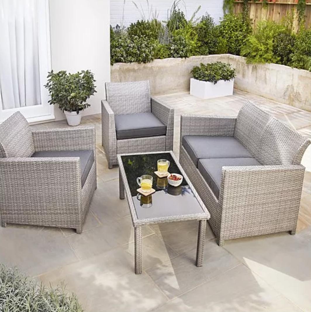 Grey Jakarta Outdoor Sofa Set 8 Piece
